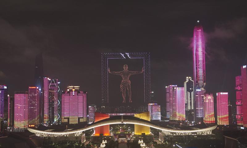 """深圳用灯光点亮建党百年""""中国红""""_丰朗光电"""